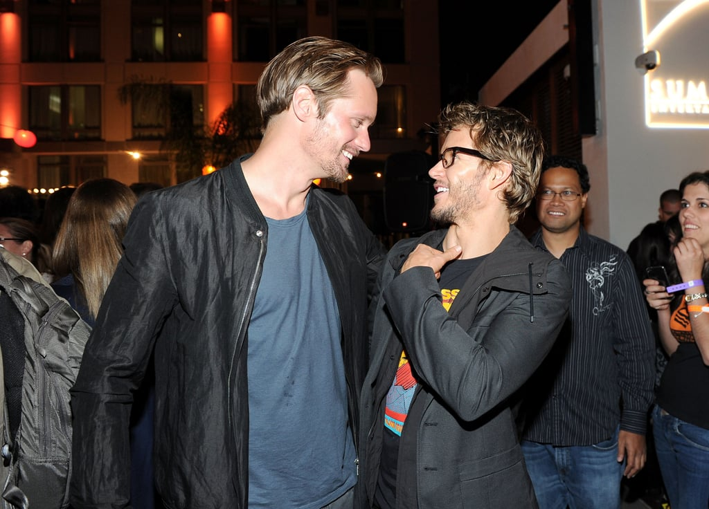 Ryan Kwanten and Alexander Skarsgard cut loose at the party.