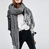 Asos Oversized Scarf With Tassels In Herringbone Geo (£18)