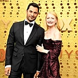 Darwin Shaw and Patricia Clarkson at the 2019 Emmys