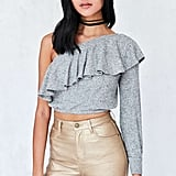 A Cropped Frilled Top to Pair With Colorful Skirts