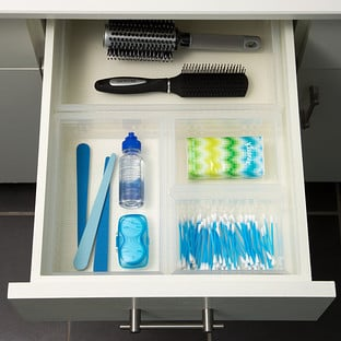 Bathroom Stackable Drawer Organizers Starter Kit