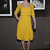 Emily Blunt posed at the Elie Saab private dinner in NYC.