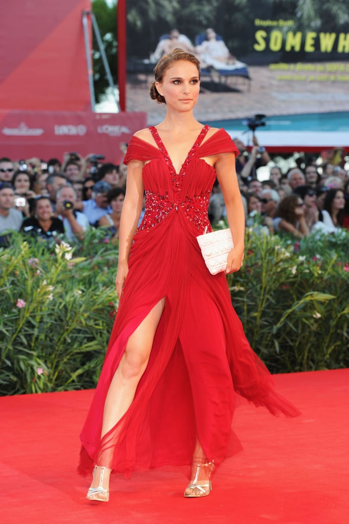 Natalie Portman In A Red Rodarte Gown At The 2010 Black