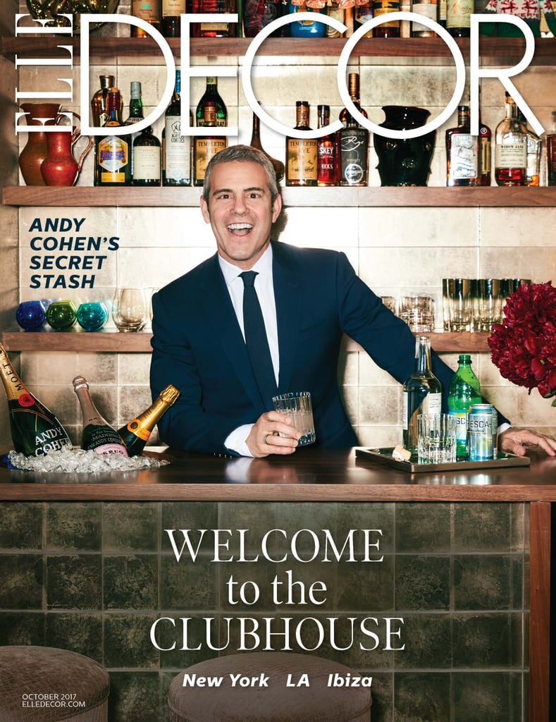 The ladies of Bravo's famous (or infamous, depending on your POV) Real Housewives franchise may live in some lavish spreads, but their suburban McMansions have nothing on the abode of show executive producer Andy Cohen. The former head of development at Bravo and current talk show host of Watch What Happens Live worked with interior designer Eric Hughes to combine two West Village apartments into the ultimate clubhouse: a sumptuous, masculine duplex designed with entertaining in mind and outfitted with just enough playfulness to make you feel immediately at ease. The media impresario opened his doors to Elle Decor for its October issue. Take a look at some house tour highlights and hear what Andy had to say ahead. Then head to Elle Decor for the complete feature.      Related:                                                                                                           Heather Dubrow's Mansion Will Knock Your Manolos Off