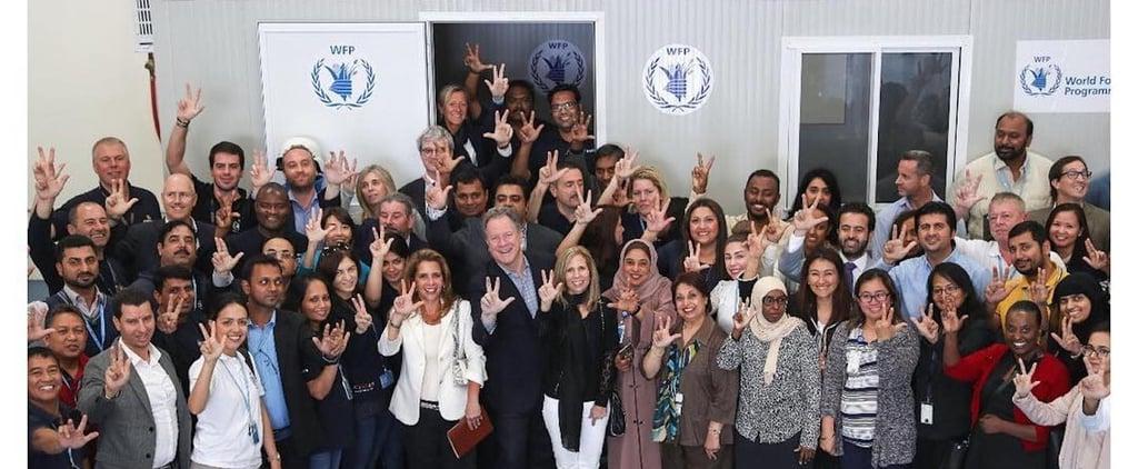 سموّ الأميرة هيا تتبرع لدعم برنامج الغذاء العالمي
