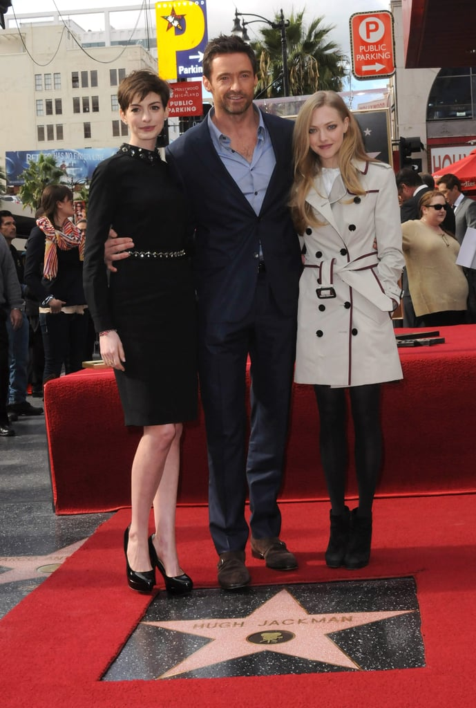 Anne and Amanda looked lovely alongside honoree and costar Hugh Jackman.