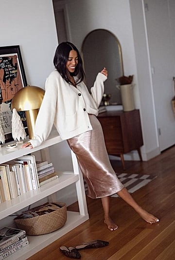 The Best, Most Popular Satin Midi Skirt | 2021