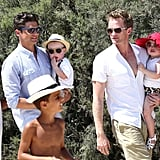 Neil Patrick Harris and David Burtka carried Gideon Burtka-Harris and Harper Burtka-Harris.