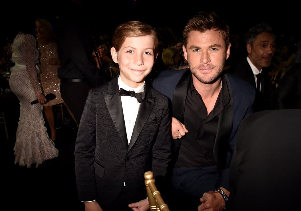 Pictured: Jacob Tremblay and Chris Hemsworth
