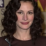 Julia Roberts With Dark Brown, Curly Hair in 2001