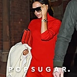 Victoria Beckham Red Dress in London 2018