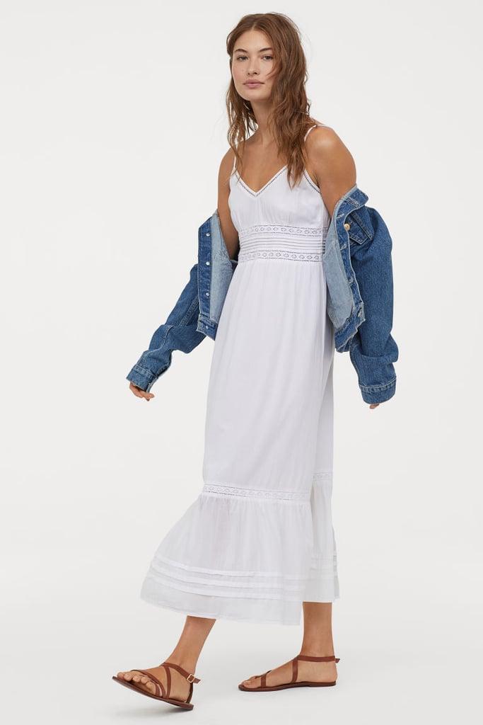 8e812cbaa6 H&M Long Dress With Lace Details | Cute Summer Dresses 2019 ...