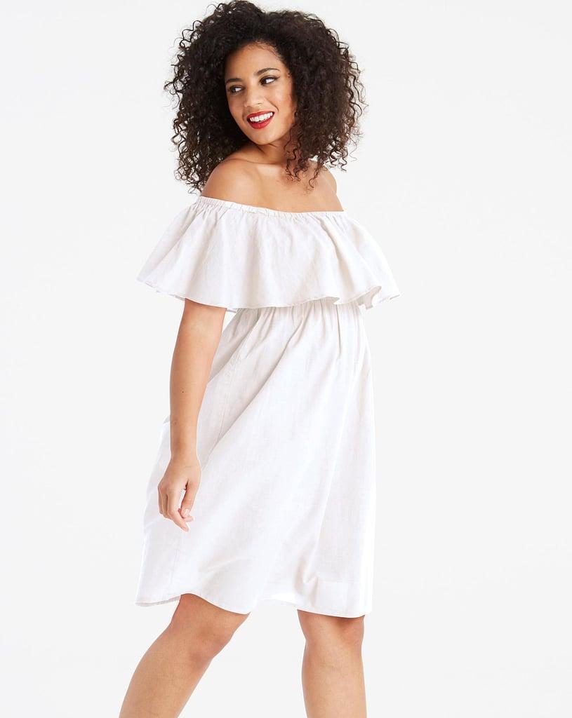 Simply Be Bardot White Beach Dress