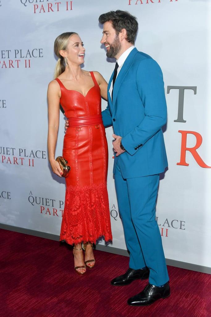 Emily Blunt and John Krasinski at A Quiet Place 2 Premiere