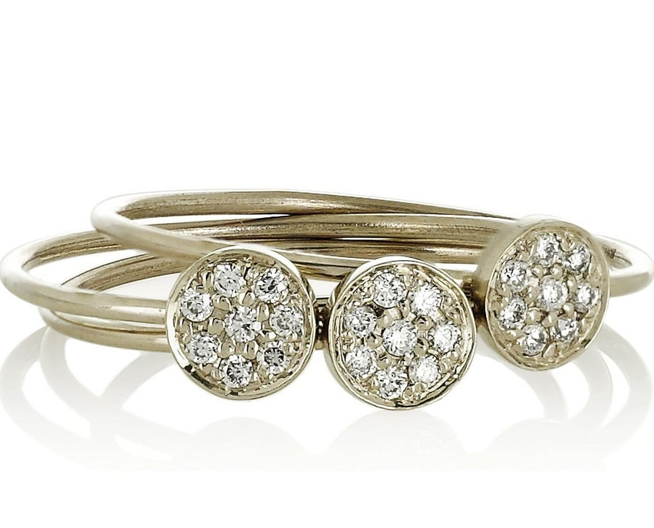 If Gwyneth Paltrow and Ashley Olsen swear by Jennifer Meyer's gorgeous designs, then so do we. And what better way to indulge with this trio of 18-karat white-gold diamond stacking rings ($1,500).