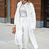 Gigi Hadid Was a Vision in White in Between NYFW Shows