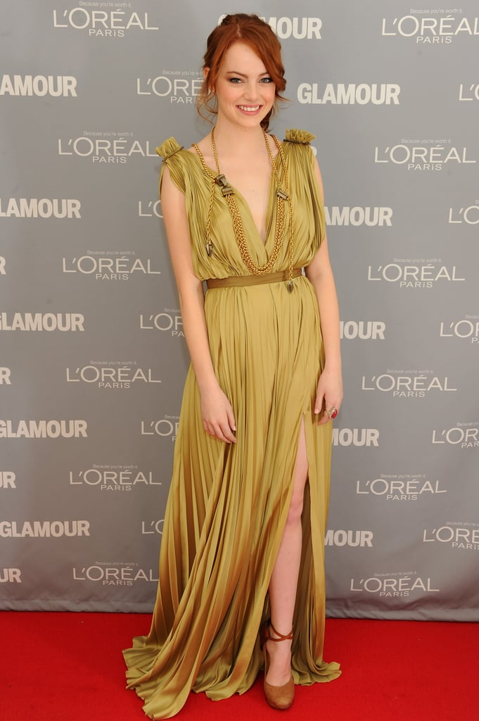 Emma went for Grecian goddess in this draped Lanvin number at the 2011 Glamour Women of the Year Awards.