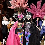 Giovanna Battaglia and Sara Battaglia formed a true sister act in whimsical costumes.