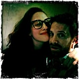 Seth Green hung out with Kat Dennings while recording voice-overs in March. Source: Twitter User sethgreen