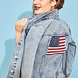 Old Navy American Flag Graphic Jean Jacket