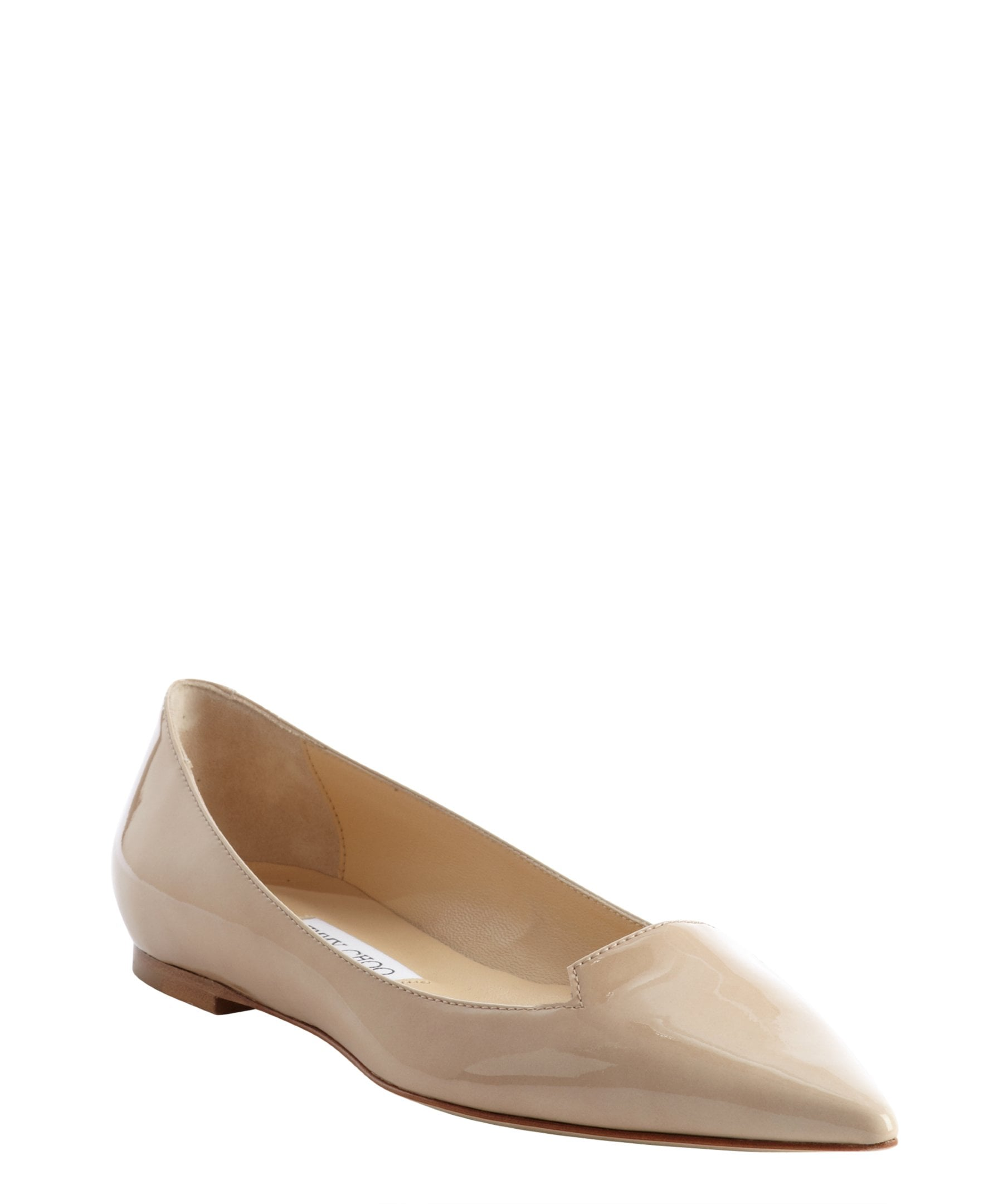 Jimmy Choo Nude Leather Flats