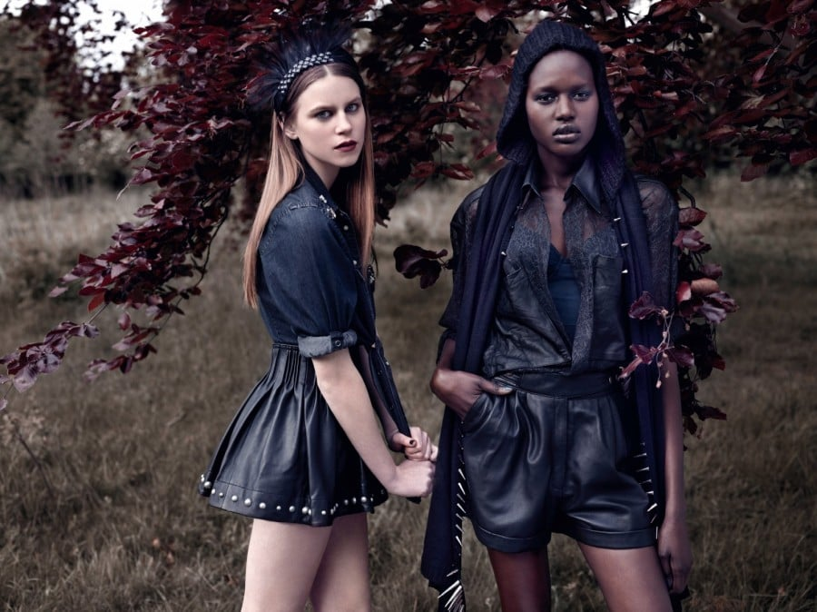 Make a statement with leather shorts and studded items.