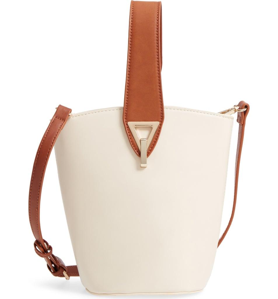 Street Level Top Handle Bucket Bag