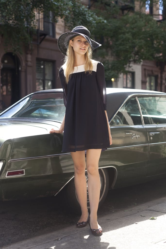 Be the picture of Summer in a sweet, babydoll dress and big floppy hat.