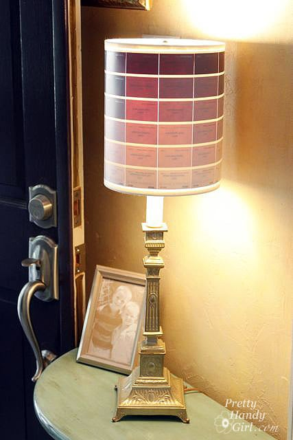 Paint Chip Lamp Shade Paint Sample Crafts Popsugar