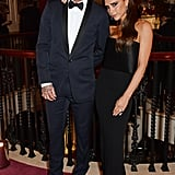 We were glad to see David Beckham with Victoria at the London Evening Standard Theatre Awards after his accident on Saturday.