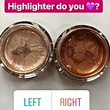 Along with the champagne gold option, there's a darker highlighter to work on deeper skin tones.