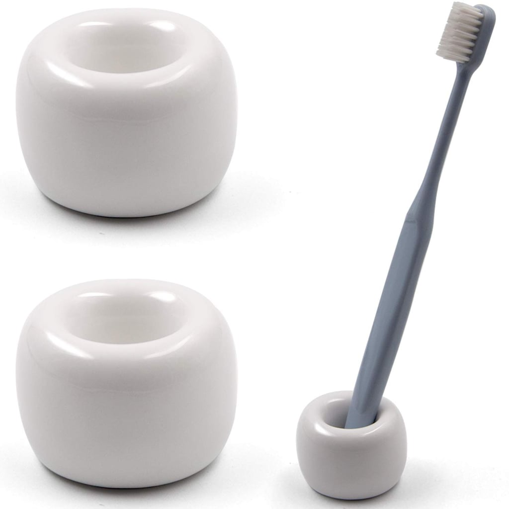 I have just one Airmoon Mini Ceramics Handmade Toothbrush Holder ($10, pack of two) on my sink, but I love that it comes in a pack of two if I need a backup.