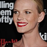 Anne V wore red lipstick for the Killing Them Softly screening in NYC.