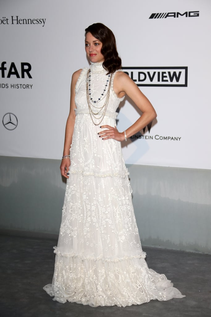 Marion Cotillard looking stunning in white.