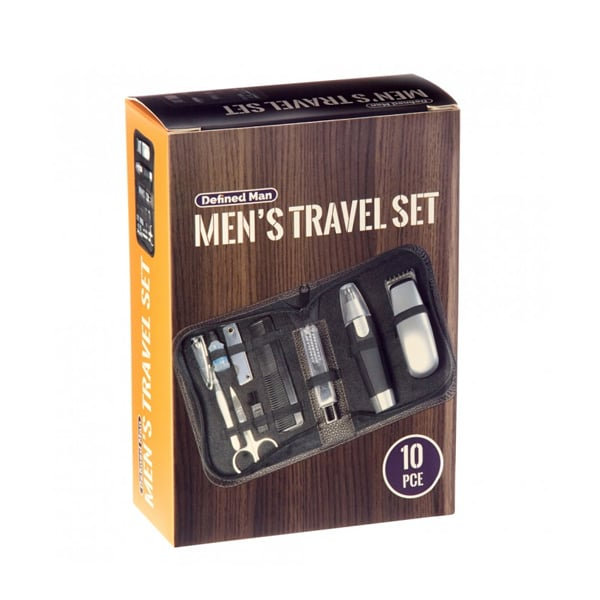 Defined Man Men's Travel Set Kit ($30) For the man that's always on-the-go, the Defined Man Travel Kit has everything he needs to maintain his good grooming habits.