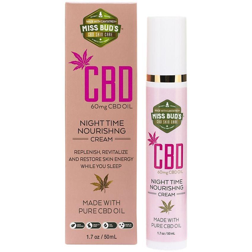 Miss Bud's CBD Hemp Extract Nighttime Nourishing Cream