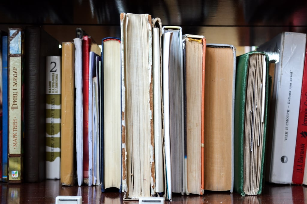 Old schoolbooks you'll never use again