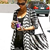 Jessica Alba wore stripes in LA.