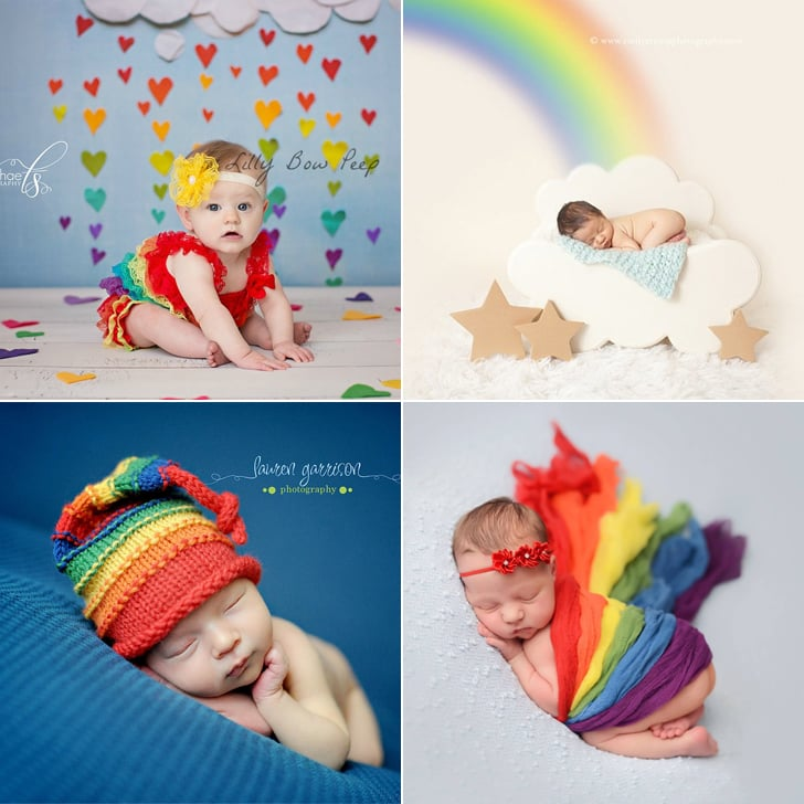Rainbow baby photo ideas