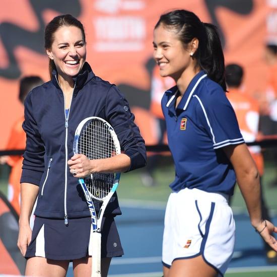 Kate Middleton and Emma Raducanu Play Tennis in London