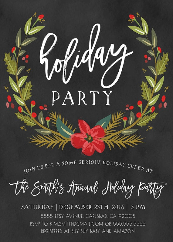Winter Holiday Party Invitation Printable Holiday Party