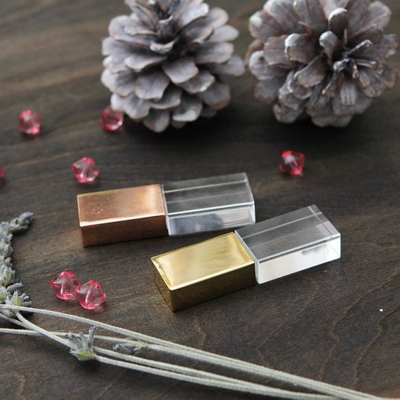 Glass and Gold USB Drive
