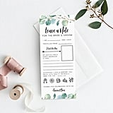 Leave a Note For the Newlyweds Printable Bridal Shower Game