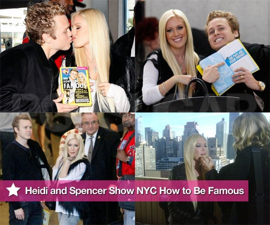 """Photos of Heidi Montag And Spencer Pratt Heading to NYC to Promote Their """"How to Be Famous"""" Book"""