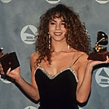 Mariah Carey had a Grammy in each hand in 1991.