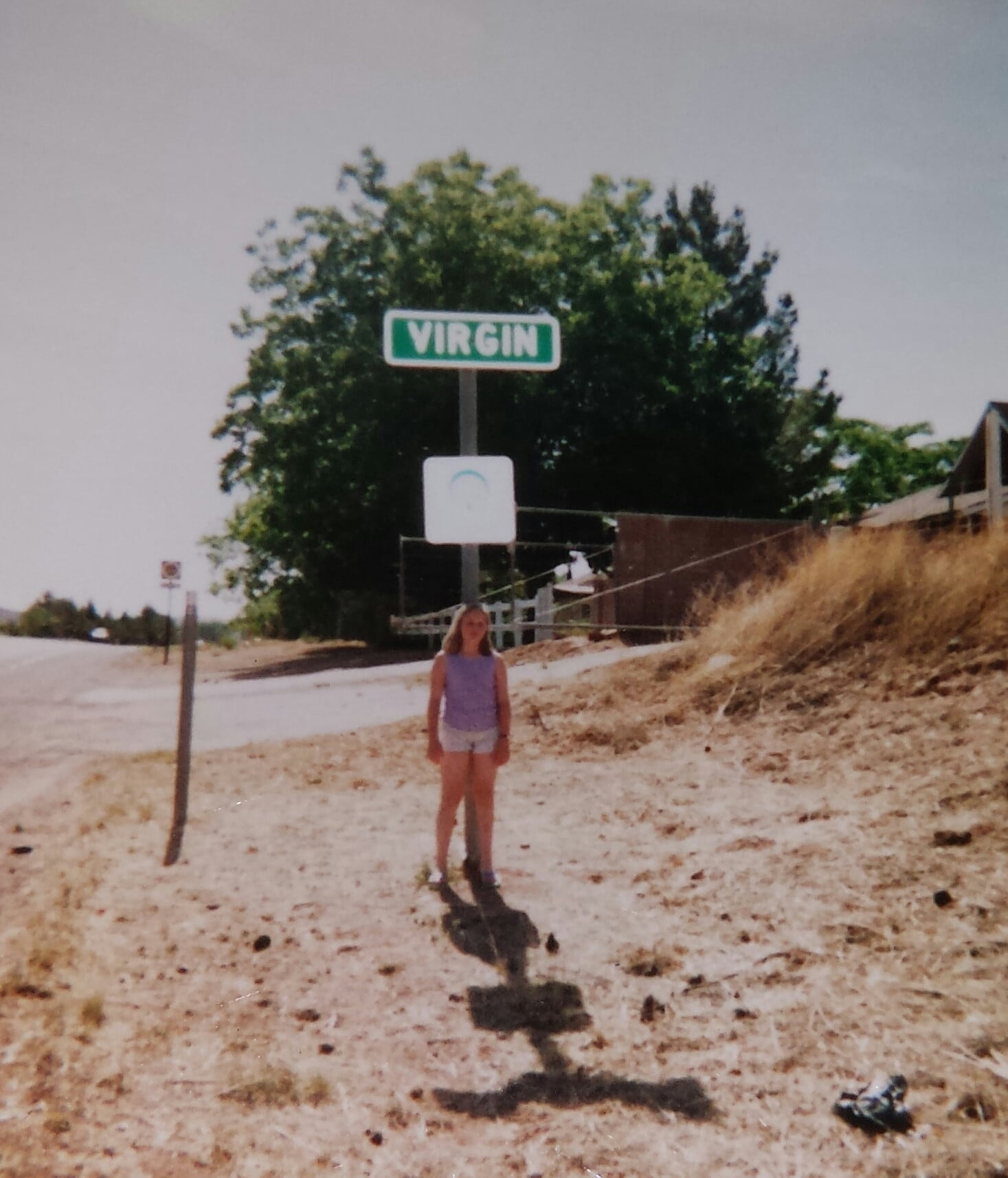"""Just me at 12, taking a road trip with my parents and apparently their sense of humor."" Source: Reddit user catword"