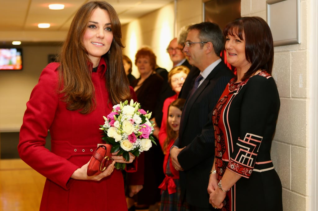 Kate Middleton attended a Welsh rugby game.