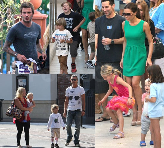 Pictures from the Beckham's Birthday Party