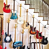 Needless to say, there are guitars everywhere, including on the stairway.