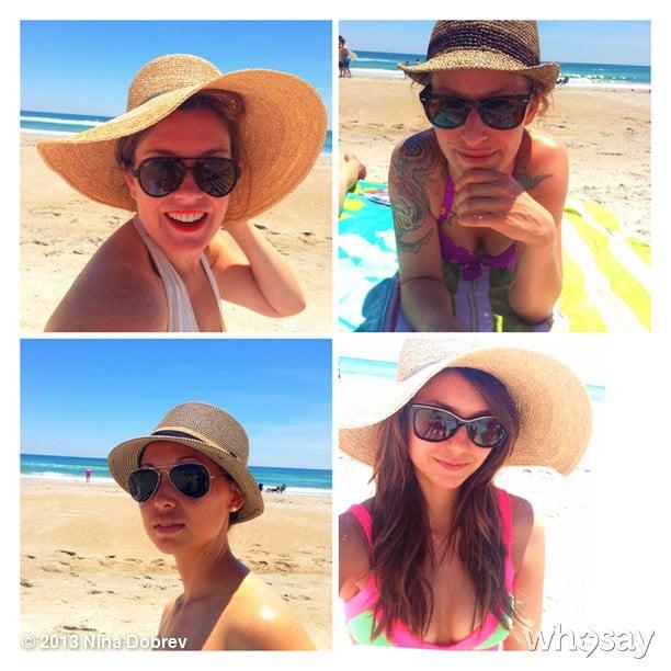 Nina Dobrev and her friends had a hat photo shoot.  Source: Nina Dobrev on WhoSay